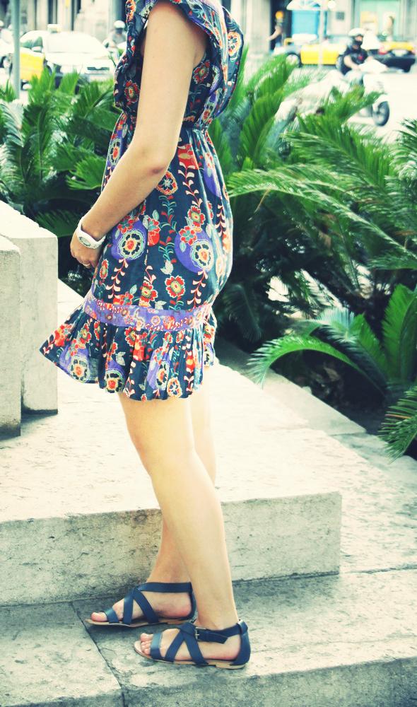 robe mango imprime fleurs