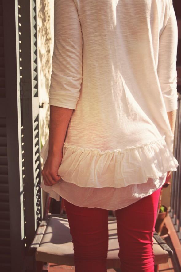 pantalon slim rouge bel air