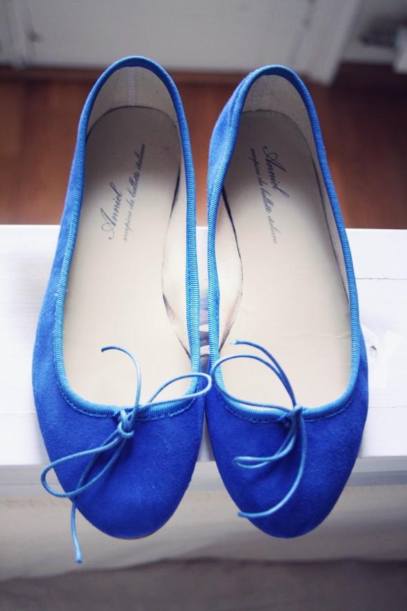 ballerines bleues anniel