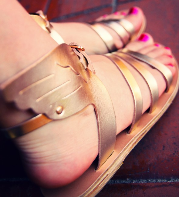 sandales ailées ancient greek sandals