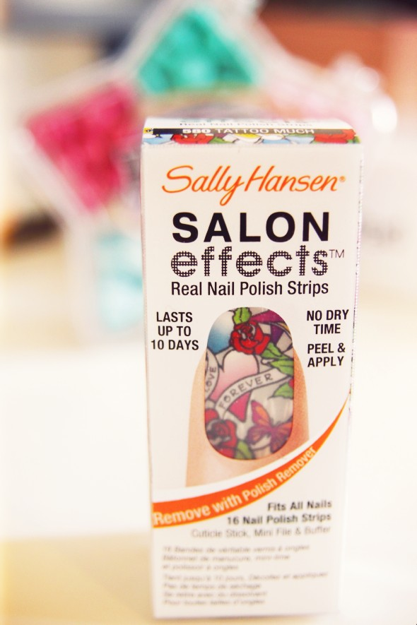 Sally Hansen Strip polish nail patch patches