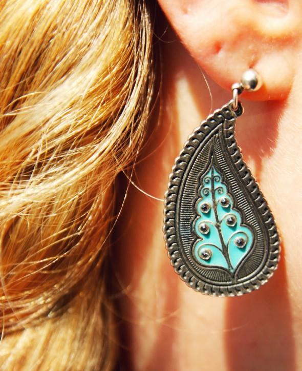 boucles d'oreilles turquoise agatha