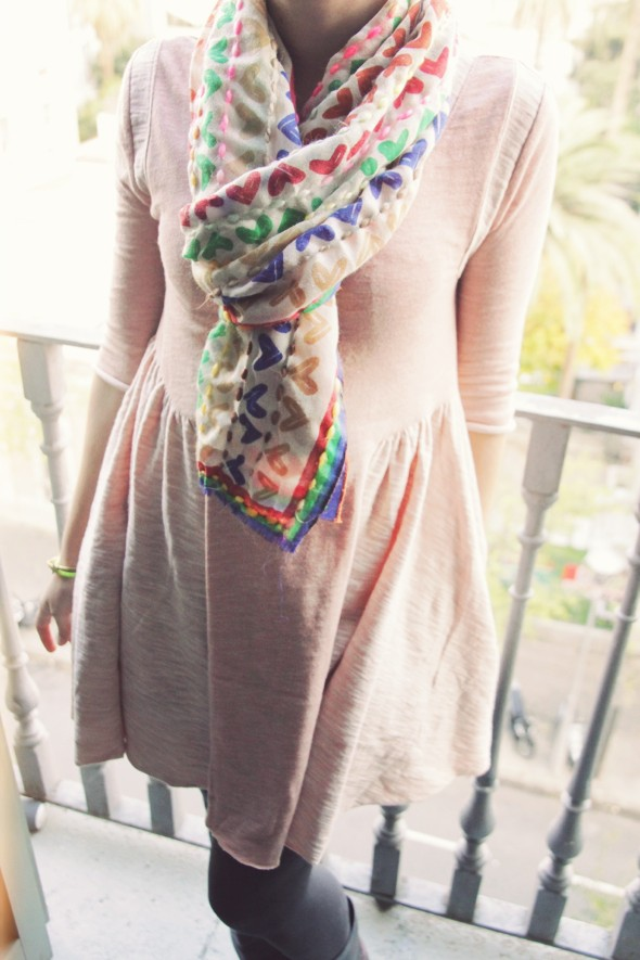 robe rose poudré free people
