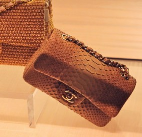Chanel cuir exotique python