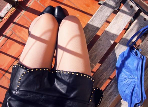 jupe falda skirt cuir leather piel zara 2012 sac bag nat & nin betty cos pull sweat boots babooska gucci_effected