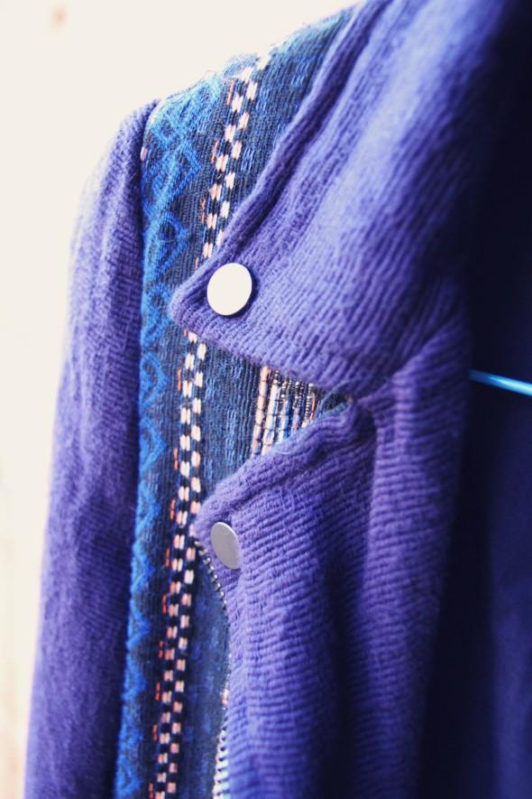 -veste jacket perfecto zara aztec bleu blue 2013 spring summer_effected
