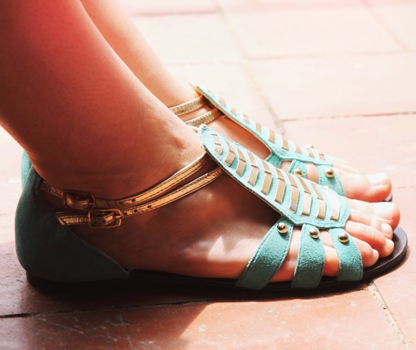 kurt by kurt geiger shoes sandals turquoise gold_effected