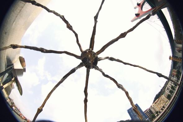 guggenheim bilbao spider araignée_effected
