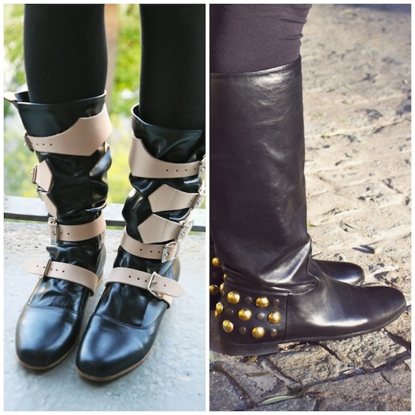bottes boots pirates vivienne westwood babooska gucci studs negro black noir