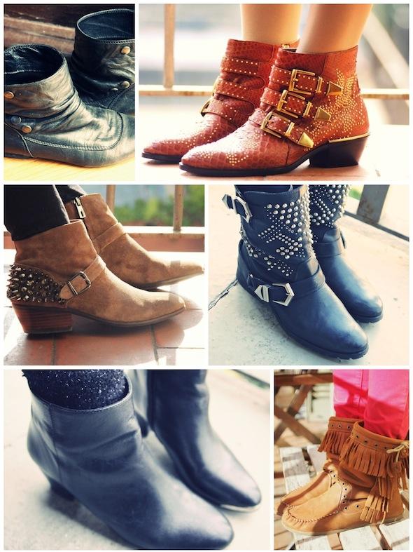 bottes bottines boots andré chloé chloe susanna susan sam edelman studs zara jonak kids black noir fer