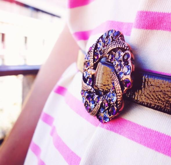 belt ceinture cuir asos black & brown london swarovksi_effected