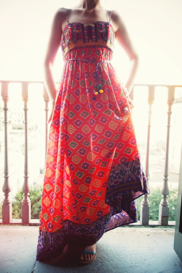 robe longue orange