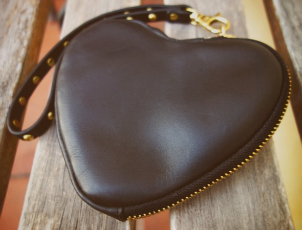 & other stories and mini sac bolso pochette bag cuir leather black noire coeur heart gold or doré 2013_effected