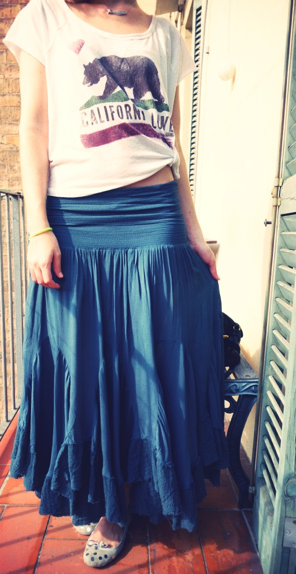 _outfit free people skirt convertible viscose maxi billabong california love shirt cropped_effected