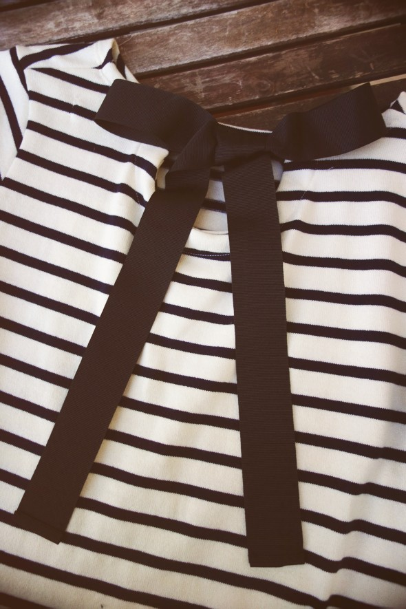-petit bateau robe dress pull sweat shirt bleu blue noeud bow black white blanc noir stripes rayas rayures 2013 2014_effected