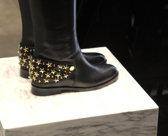 philippe plein leather boots bottes stars studs étoiles
