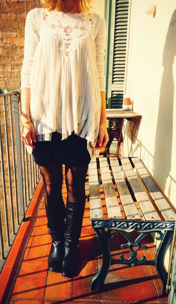 free people Hannah's Tiered Top jupe skirt alexander wang gucci babouska babooska boots bottes oysho collants_effected