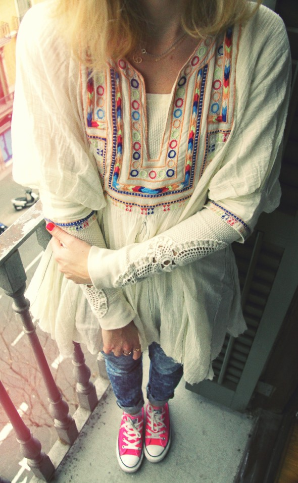 Free people tunique tenue look outfit robe