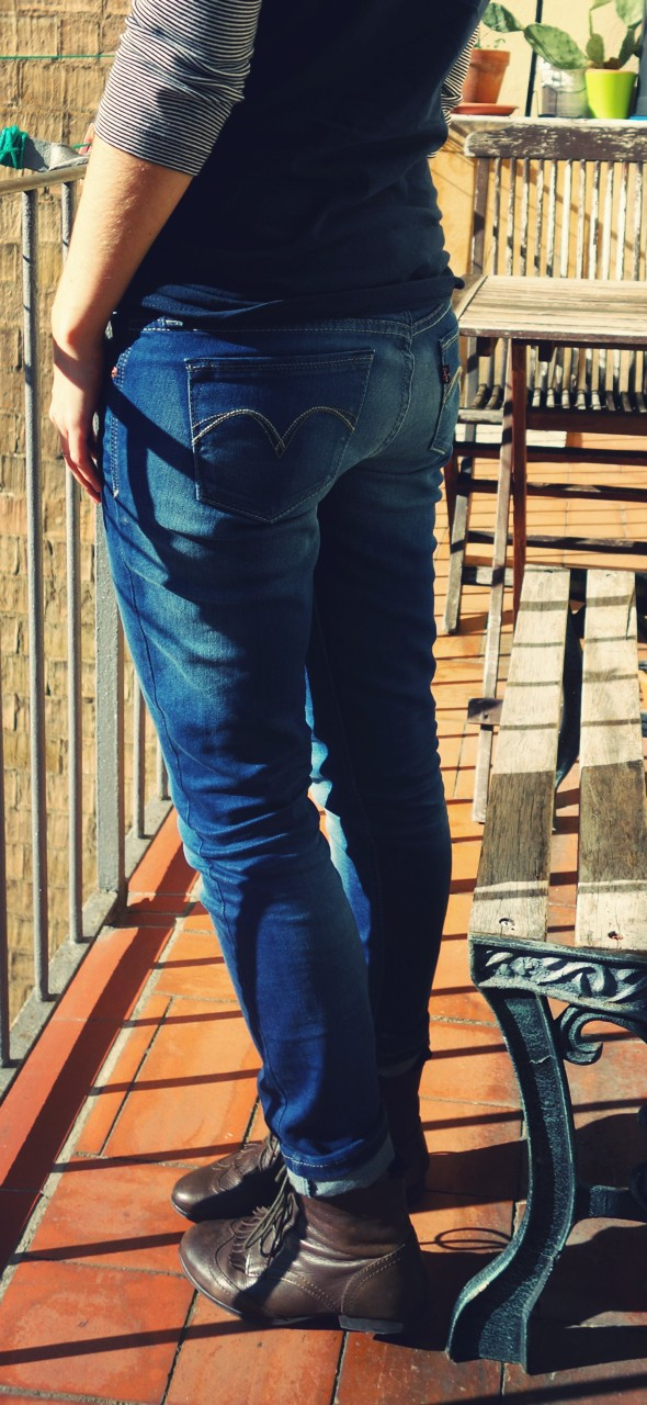 Levi's young modern curve id skinny jeans mineral blue