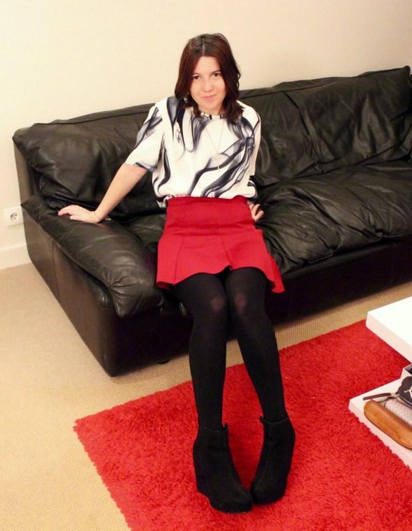 comment porter la jupe rouge
