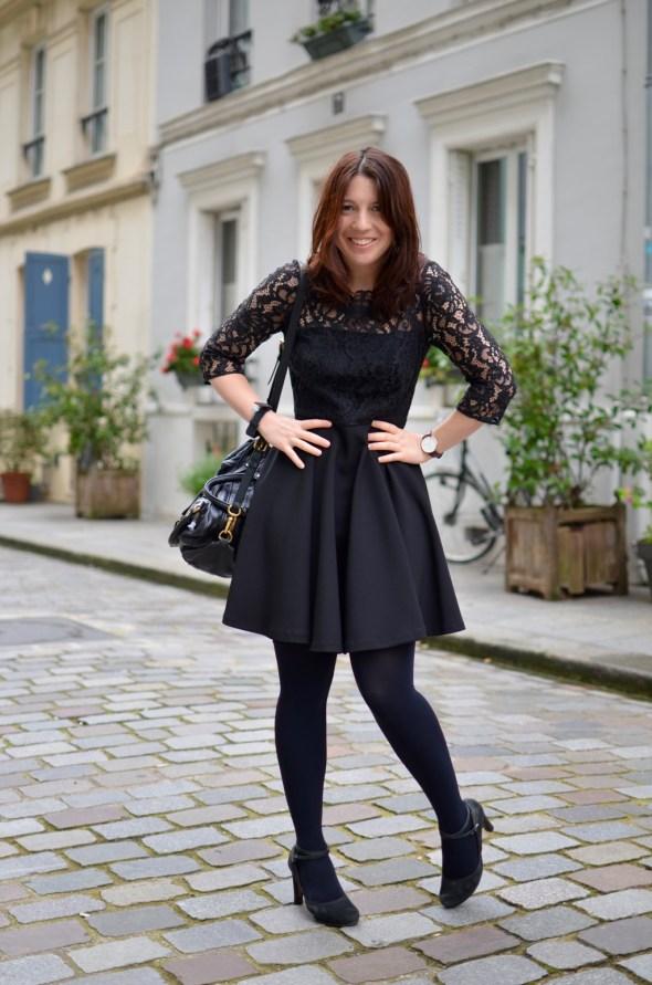 Cremieux Petite robe noire sac Marc Jacobs