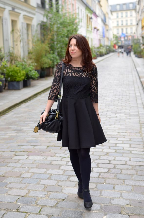 Cremieux Petite robe noire badass en fait