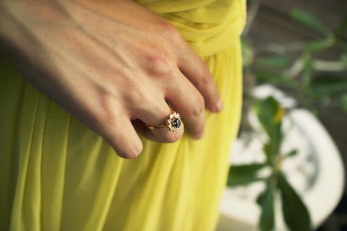 ring_bague_topshop_yellow_neon_wrap_dress_robe_jaune_vif_ballerines_zara_studs_ballerinas_flats_effected