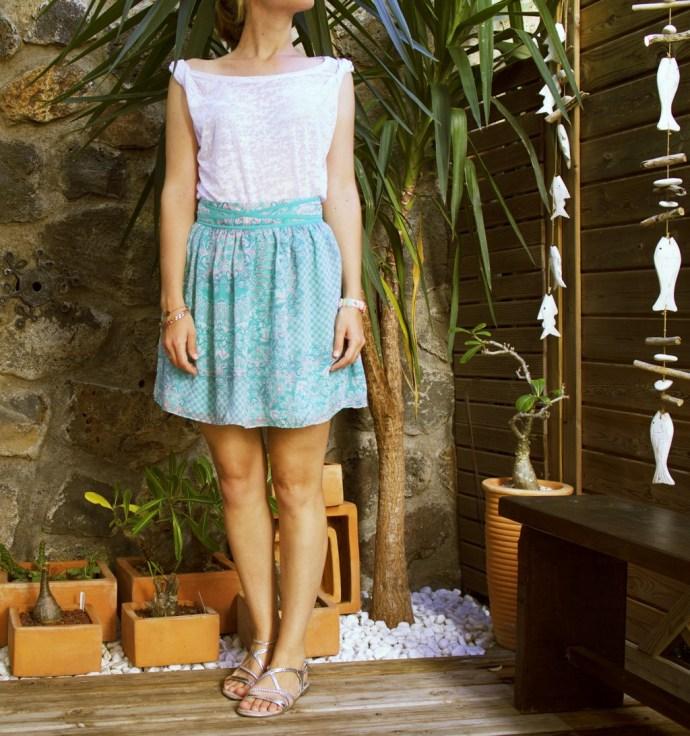 summer_tenue_look_fashion_naf_naf_skirt_jupe_haut_top_hm_h&m_effected