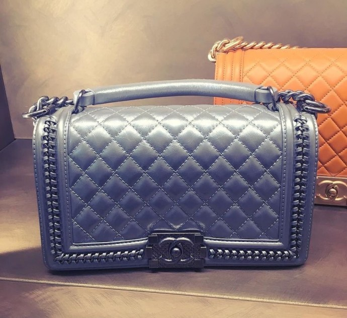 Chanel Le Boy bag with handles and chains