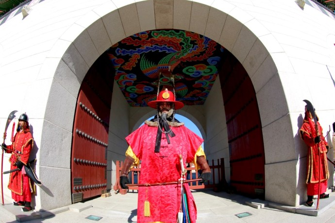 Gyeongbokgung_Guards_changing_oyal_palace_seoul_south_korea_asian_asia