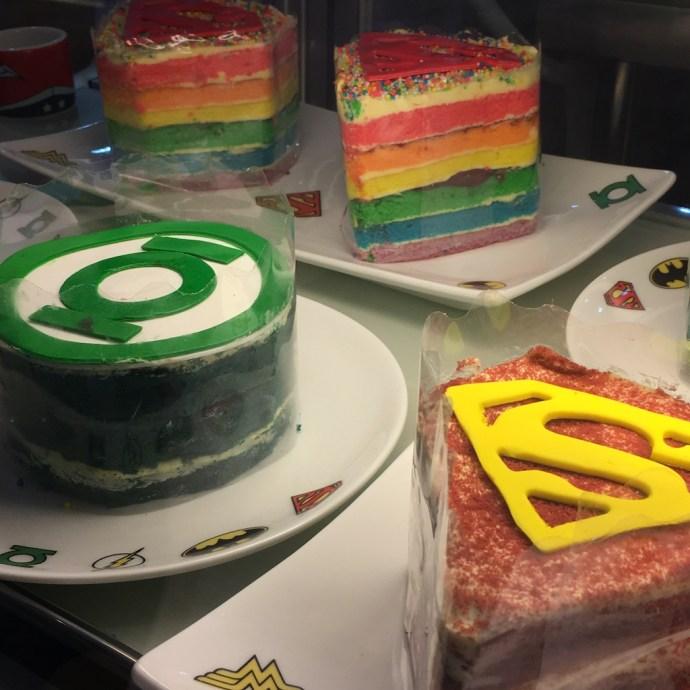 DC Comics Super Heroes Cafe Cakes Gateaux Green Lantern Superman