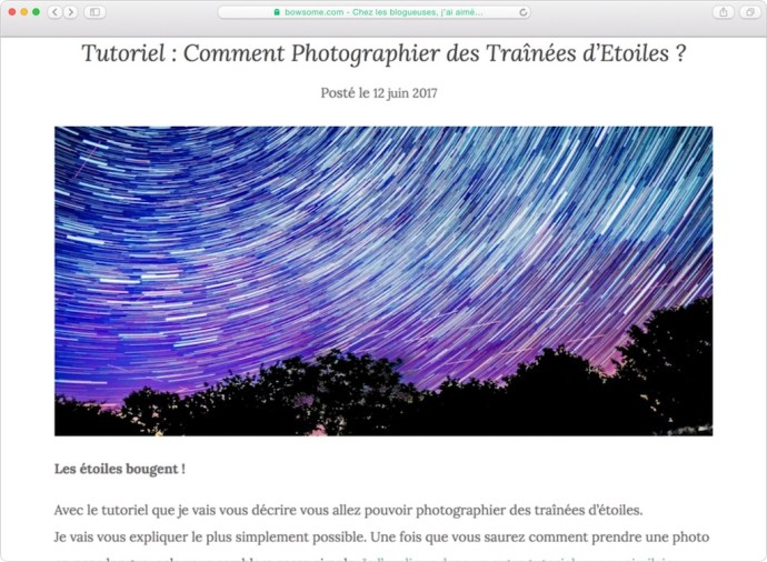 tutoriel photo etoiles