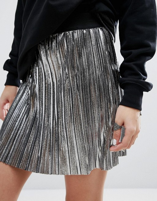 jupe plissee argent