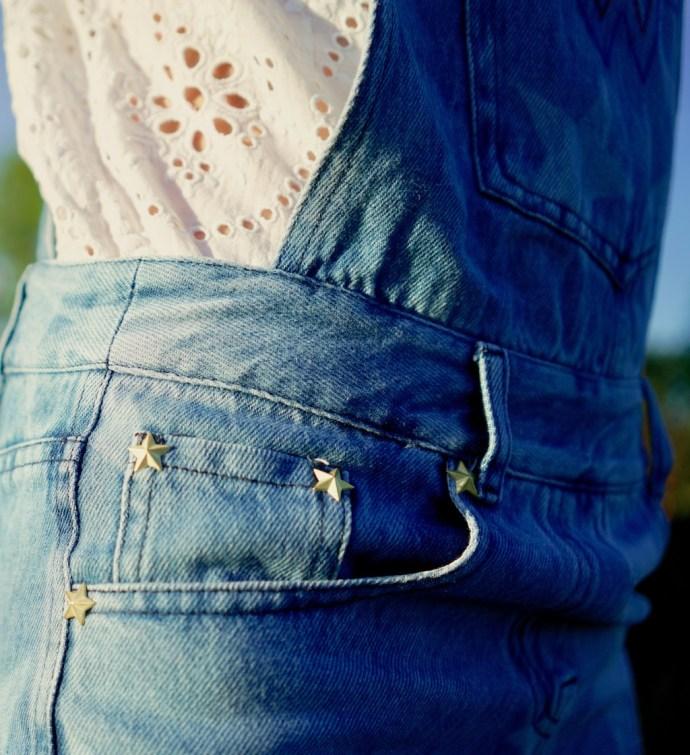detail salopette jean