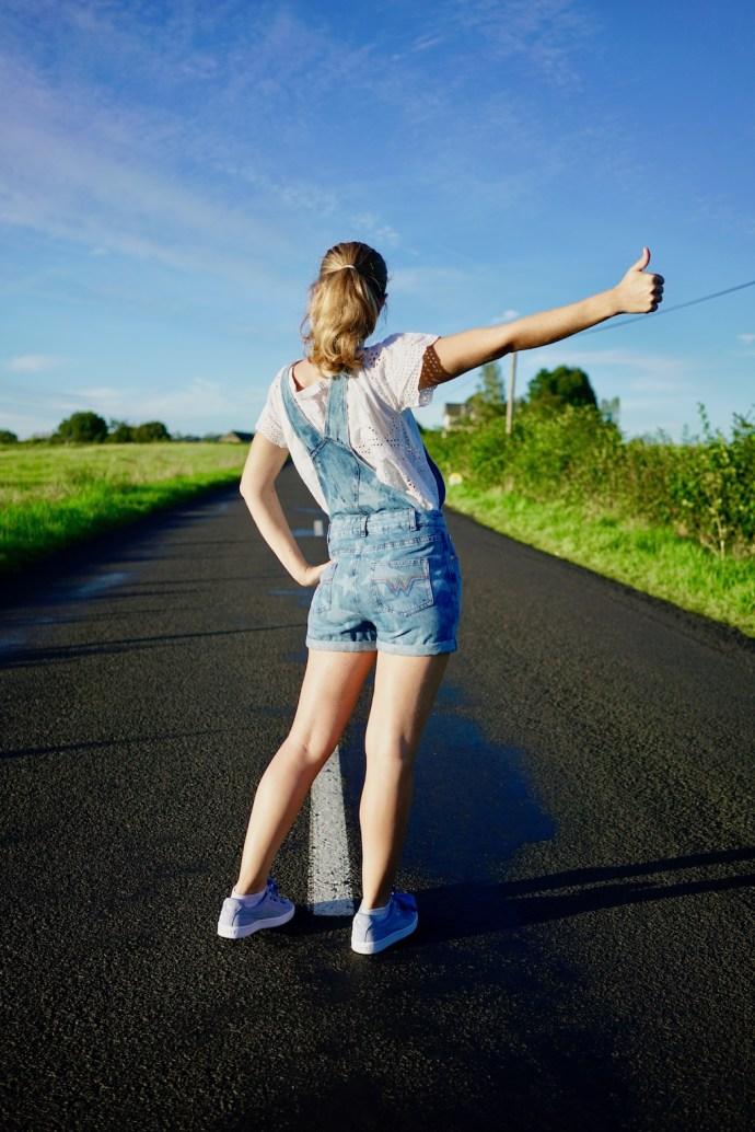 salopette en jean wonder woman collection