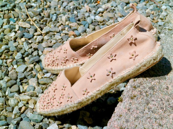 Zara leather espadrilles pink stars