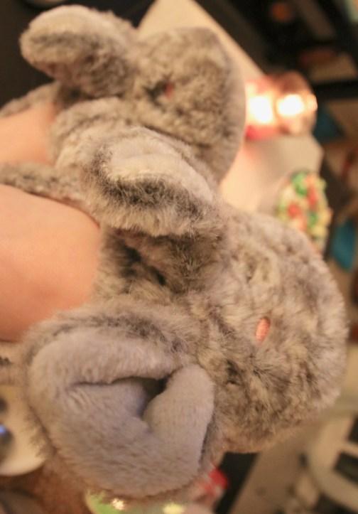 pantoufles lapin