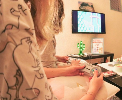 filles console de jeux