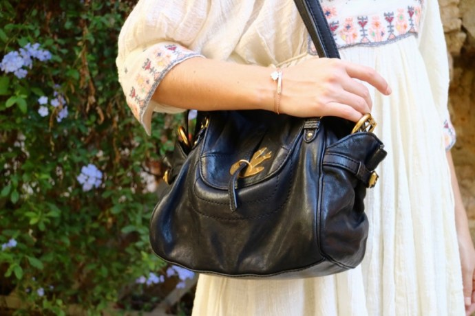 sac noir dore