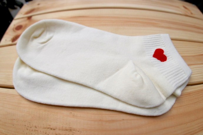 chaussettes coeurs