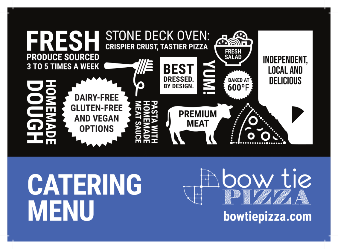bow tie pizza catering menu