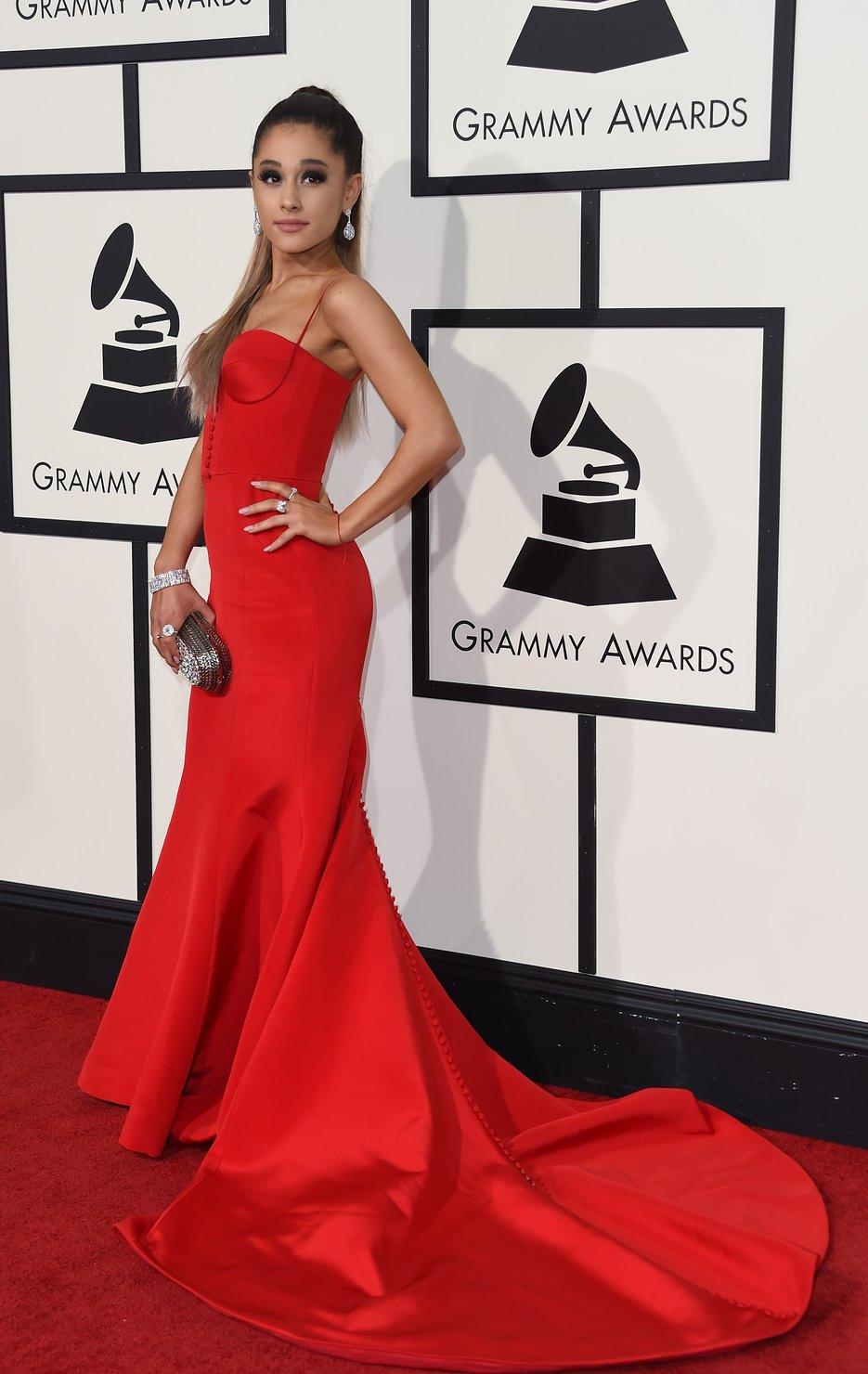 Bowtiful Life Vogue Grammys Ariana Grande in Romona Keveza