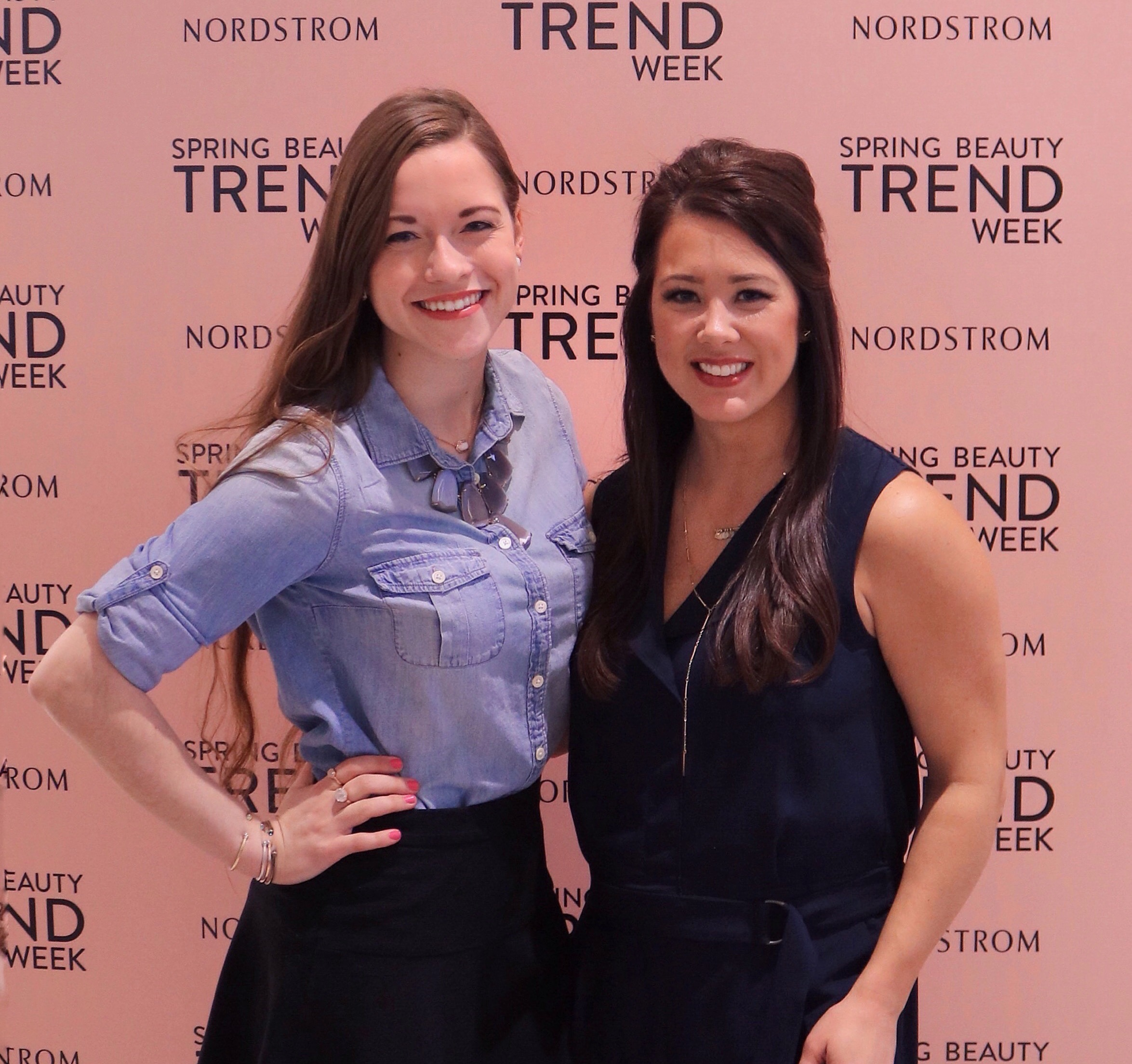 Megan Rogers-Reilley and Kelly Edwards Nordstrom Beauty Trend Show Spring 2016 Chicago Bowtiful Life