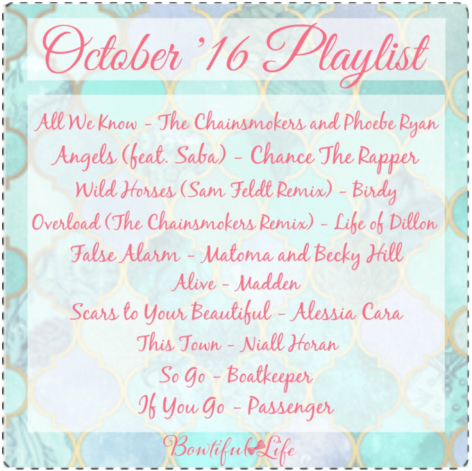 Bowtiful Life October Playlist 2016