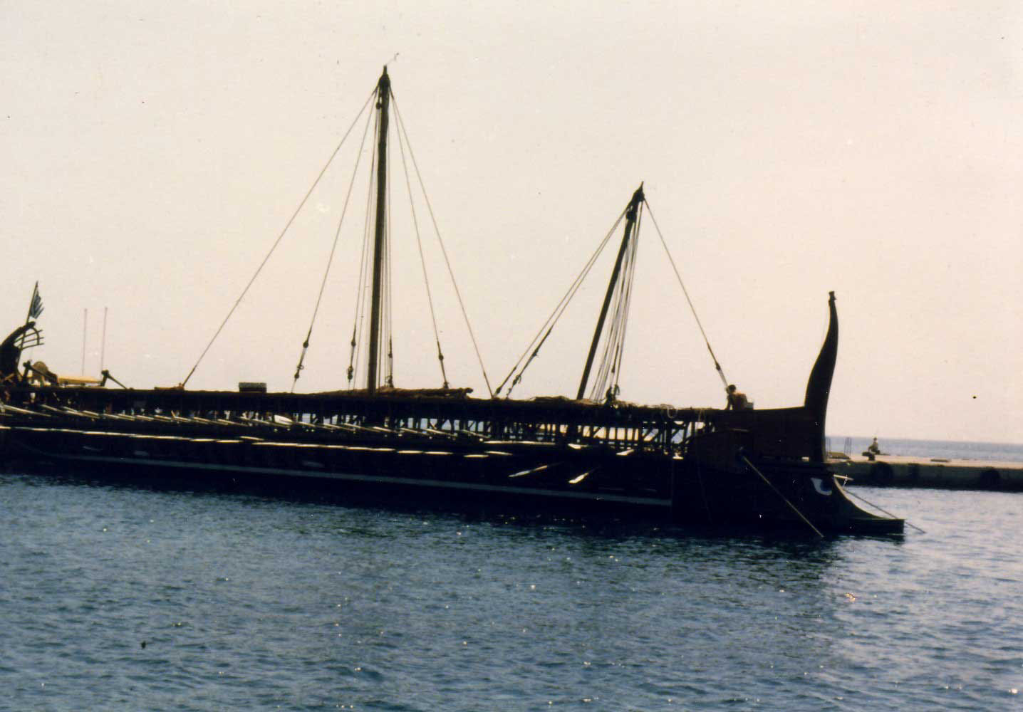 Olympias at the dock