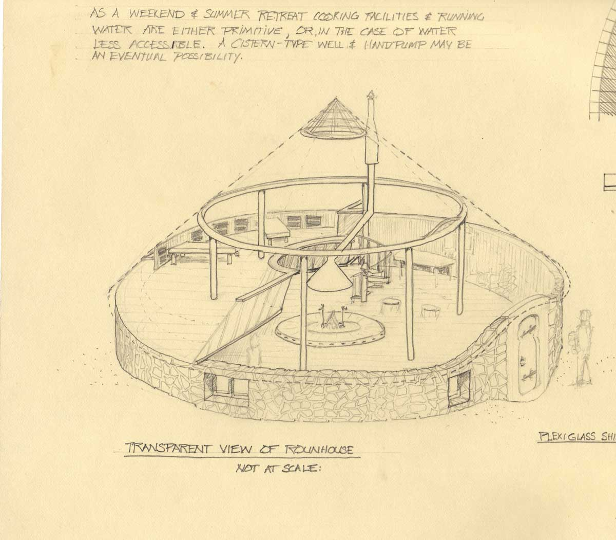 Section drawing of the Wheelhouse