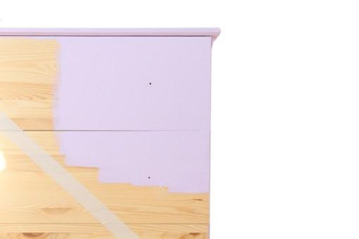 facade meuble peint