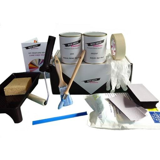 kit peinture argent