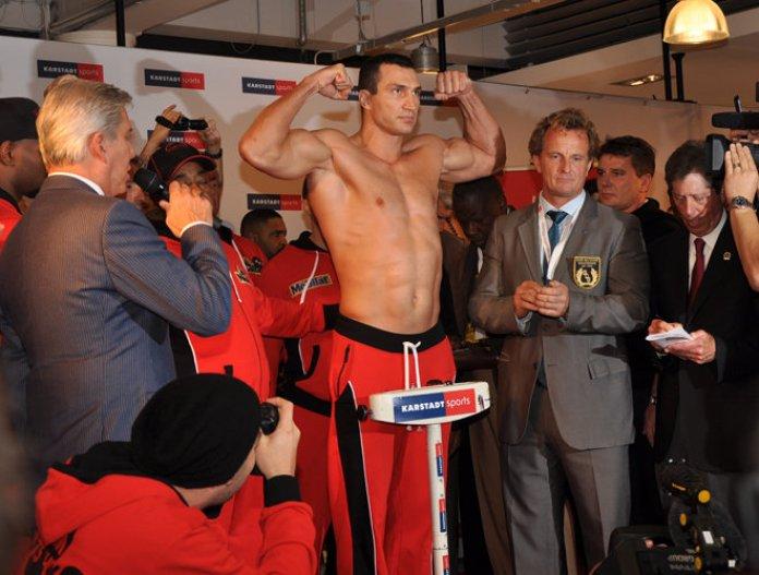 Gewichtsklassen Boxen - Wiegen Klitschko