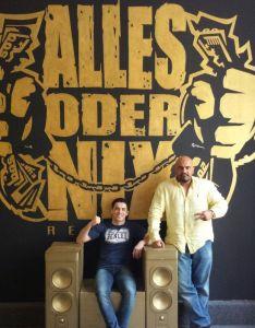 Bihes Barakat mit Rapper XATAR